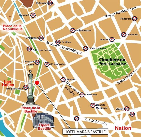 Situaci n hotel best western marais bastille par s for Hotel boulevard richard lenoir paris